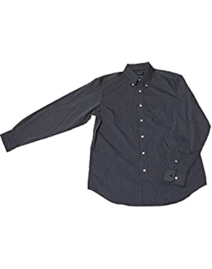 Men's Classic Fit Wrinkle Resistant Striped Button Down Shirt