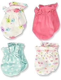 Baby Girls' 4 Pack Mittens