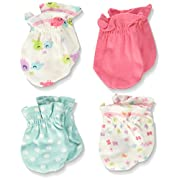 Gerber Baby Girls Apparel - 0 - 3 Months - Birdie, 4 Pack