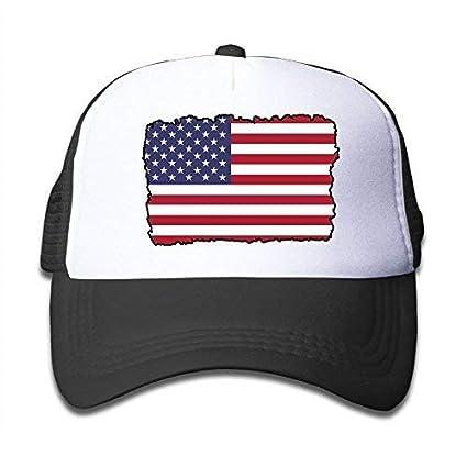 Amazon.com   Margie D American Flag On Boys and Girls Trucker Hat ... b4448f8663c1