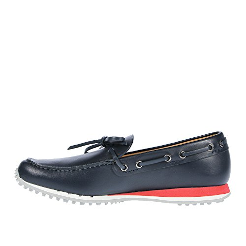 Car Shoe Mocassino in Pelle Blu - 44