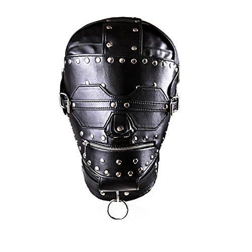 Juguetes sexuales máscara Sombrero de cuero Cerradura de de Cerradura cobre Multi-pin Parche Firme Bondage Mask, A fbf09b