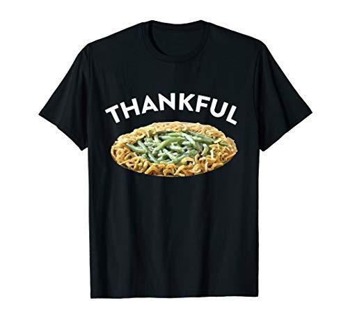 Thankful Green Bean Casserole Thanksgiving Dinner T-Shirt