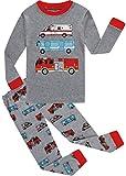 Boys Christmas Pajamas Set Toddler Car Cotton Sleepwear Kids Casual Wear 3t