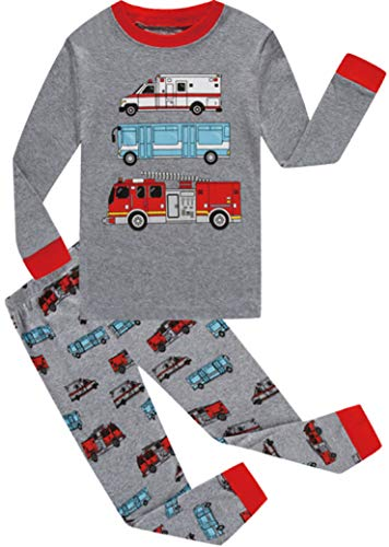 Boys Christmas Pajamas Set Toddler Car Cotton Sleepwear Kids Casual Wear 3t by Slenily