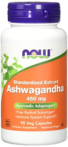 NOW Ashwagandha Extract 450 mg,90 Veg Capsules