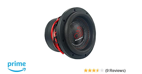 Car Subwoofer by Massive Audio HippoXL64 - SPL Extreme Bass Woofer - 6 Inch  Car Audio 600 Watt HippoXL Series Competition Subwoofer, Dual 4 Ohm, 2