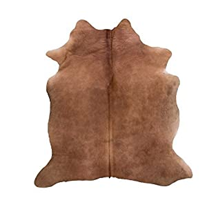 exotic brown cowhide rug