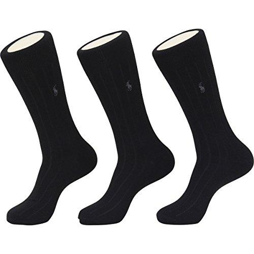 Polo Ralph Lauren Merino Wool Dress Socks - 3 Pack (8082PK) O/S/Charcoal Assorted ()