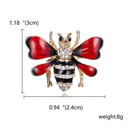 Wholesale Insect Bee Pearl Crystal Rhinestone Enamel Brooch Pin Women Jewelry | Choose Style - 31]()