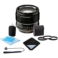 Fujifilm XF 56mm F1.2 R APD Lens - Bundle with 62mm Filter Kit (UV/CPL/ND2), Lens Wrap (15x15), Cleaning Kit, Capleash II