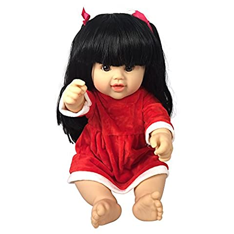 Asian Dolls with Long Black Hair | Tall 18 Inch Doll with Cute Dress | Fits American Girl Clothing (The Great Leviathan)