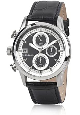 Giordano Chronograph Black Dial Men's Watch - 1613-01