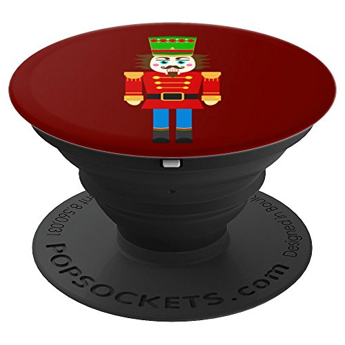 Nutcracker Toy Green Hat Soldier Red Blue - PopSockets Grip and Stand for Phones and Tablets