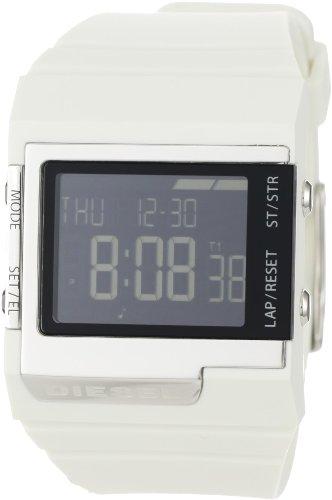 (Diesel Men's DZ7131 White Digital Black Dial Watch)