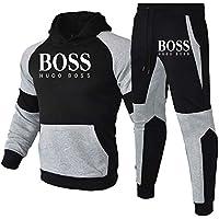 Conjunto de 2 piezas para hombre con capucha y pantalones de fitness para correr