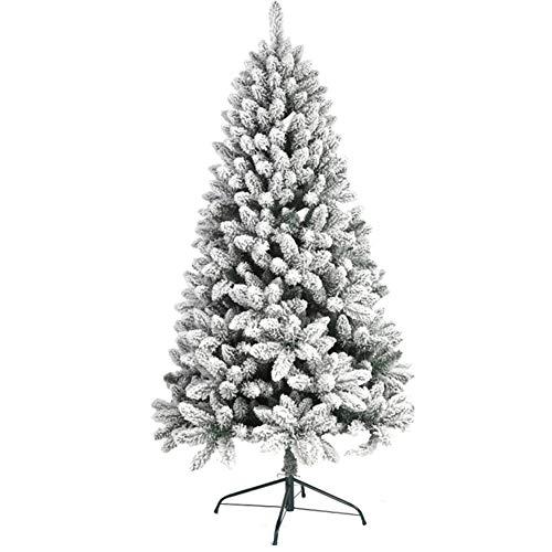 Wang Jier Árbol de Navidad Artificial Flocado nevado Árboles Decorados Pino de árbol Patas de Metal sólido Alpino Natural...