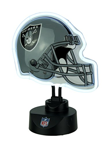The Memory Company Oakland Raiders Football Helmet Neon Tabletop Sculpture