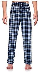 RK Classical Sleepwear Men\'s 100% Cotton Flannel Pajama Pants, Size Large