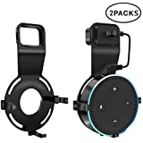 Echo Dot Wall Mount Holder with Short Cable Smart Home Hub Speakers Hanger Bracket Accsessories, Providing Home Safety Tidiness and Better Interaction with Amazon Alexa (Pack of 2, Black)