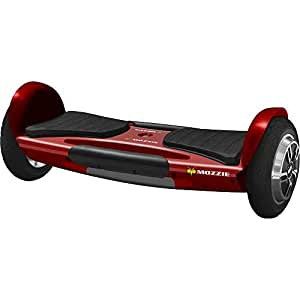 Red Mozzie Hoverboard, UL 2272 Certified, All New Safe Edge Lithium Phosphate Batteries, Single Platform Auto Balancing Technology, Bluetooth Speakers and App, 8 Inch Wheels, LED Head and Tail Lights