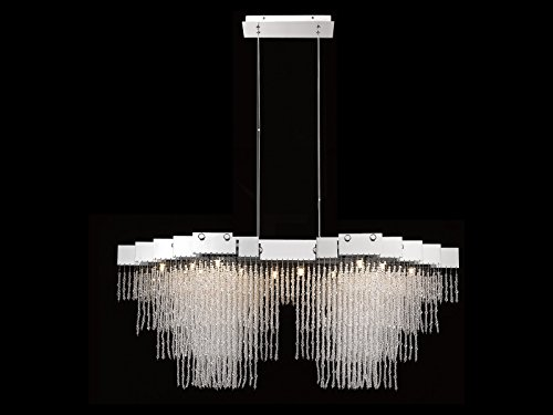 AVENUE LIGHTING HF5003-PN MEADOW LN. COLLECTION hanging chandelier, POLISHED NICKEL