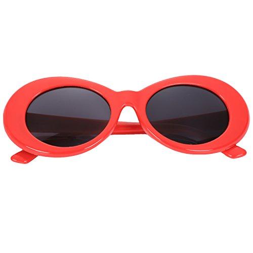 femenino rojo UV400 retro de hombre moda sol Gafas de mujer Gafas sol de Blanco masculino vintage de Gafas TOOGOO Gafas ovales S17022 de de sol UqwOFqS