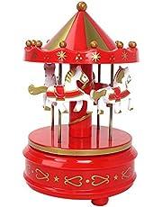 heave Merry-Go-Round Music Box Horse Rotating Carousel Music Box for Kids Children Girls Women Christmas Birthday Valentine's Gifts