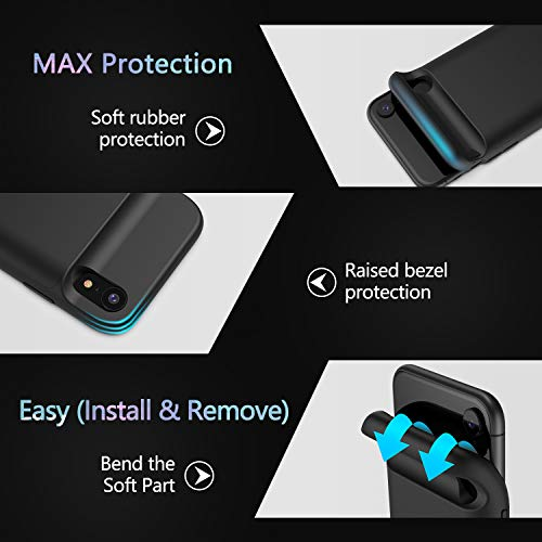 Lonlif Battery case for iPhone XR, 5000mAh Portable Charging Case Rechargeable Protective Charger Case for iPhone XR(Black)