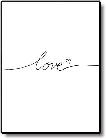 Fiori Bianchi E Gialli 11 Lettere.Homeofying Poster Da Parete In Stile Nordico Con Lettere D Amore