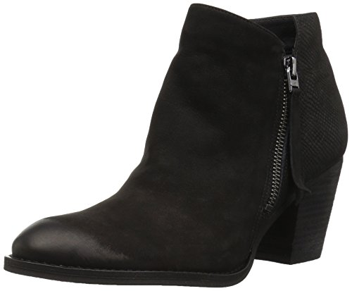 Edelman Black Macon Leather Sam Ankle Boot Women's faFqwv