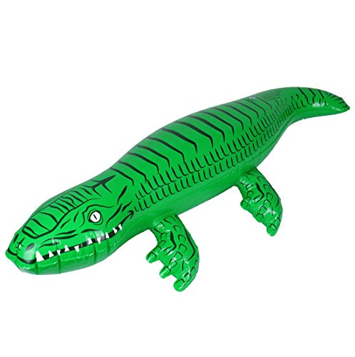 Rimi Hanger Kids Inflatable Toy Blow Up Crocodile 90cm Childrens Book Day Party Accessories One Size (Pack of 3)