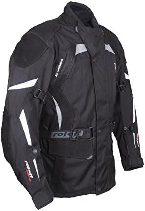 Roleff Racewear Regenjacke und Regenhose Schwarz//Grau Gr/ö/ße M