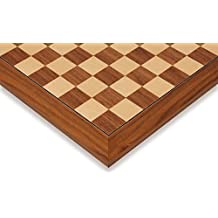 "Black Walnut & Maple Deluxe Chess Board - 1.5"" Squares by Rechapados Ferrer"