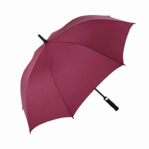 CHNY Golf Umbrella w/ Extra Large 60-inch - Auto Open Sturdy & Lightweight (Red)