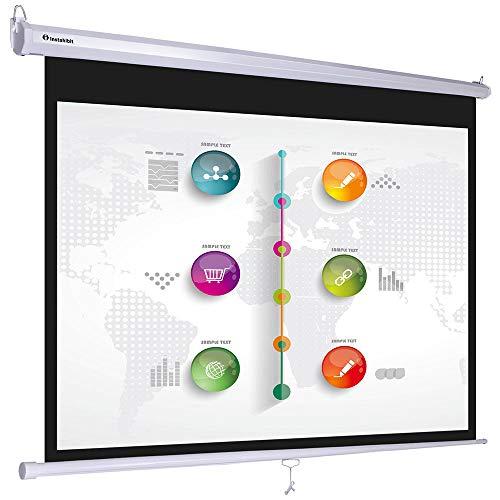 "Instahibit 72"" 16:9 Manual Pull Down Projector Screen Self-Locking Home Meeting Room Classroom Restaurant Bar"