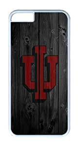 iPhone 6 Case, iPhone 6 Cover - Wood Iu Logo Scratch Protection Snap-on White Plastic Back Cover Case for iPhone 6 4.7 inch