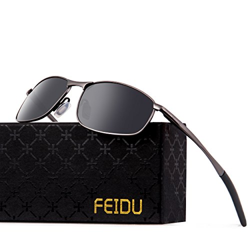 FEIDU Polarized Sport Mens Sunglasses HD Lens Metal Frame Driving Shades FD 9005
