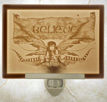 Believe Fairy Flat Porcelain Lithophane (Believe Porcelain)
