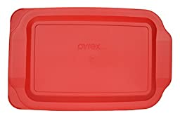 Pyrex Red Plastic Lid for 3 Qt Oblong Baking Dish 233-PC Will Not Fit Easy Grab Dish with Handel
