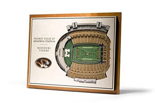 YouTheFan NCAA Missouri Tigers 5-Layer StadiumView 3D Wall Art