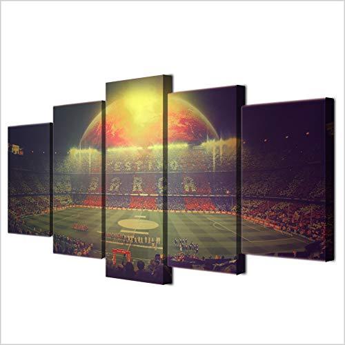 camp nou barcelona football team framed print canvas 5 - Football Framed Team Print