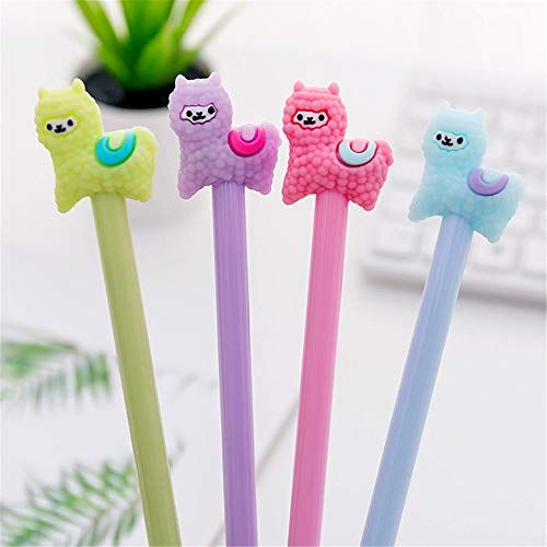 8 Pcs Cartoon Animal Alpaca Llama Gel Pen Neutral Pens For School Writing Office Supplies Kids Stationery Gift