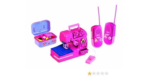 Barbie - Máquina de Coser y 1 par de walkie-talkies, Color Rosa ...