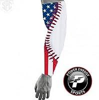 USA Flag Baseball Stitch Compression Arm Sleeve