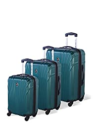 Atlantic Beaumont Hardside 3 Piece Spinner Luggage Set, Teal