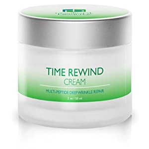 Time Rewind BEST NIGHT CREAM for Anti Aging Skin Repair. Stimulates Collagen Growth to Reduce Deep Wrinkles, Fine Lines & Acne. Safer than Skin Injections. 2oz DOUBLE SIZE 2X Value For Women & Men