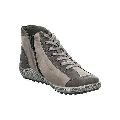 Schuh - Union R1478-42 Damen Kurzstiefel Grau Grau