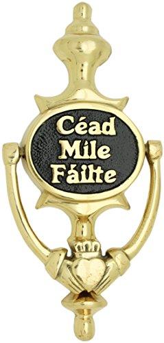 Medium Sized Brass Knocker With Cead Mile Failte Text