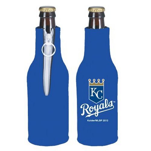 MLB Baseball Beer Bottle Insulators - Neoprene Beer Bottle Suits, Set of 2 (Royals) ()